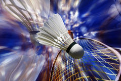 羽毛球比赛 库存照片