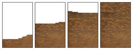 砖瓦房顺序墙壁 免版税图库摄影