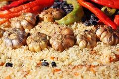 传统的肉饭 免版税图库摄影