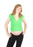 孕妇年轻人 免版税库存图片