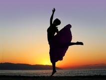 跳舞日落 库存图片