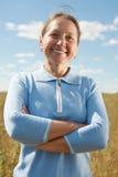 Χαμογελώντας μέση ηλικίας γυναίκα Στοκ Φωτογραφία