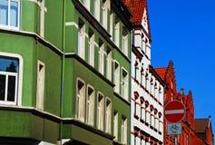 欧洲符号街道业务量 免版税图库摄影