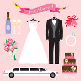 установите венчание Стоковые Фото