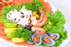 Комплект продуктов моря Стоковая Фотография RF