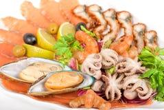 Комплект продуктов моря Стоковое Изображение