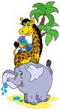 африканский шарж животных Стоковое Изображение RF