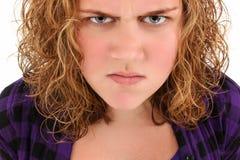 сердитый подросток Стоковые Фотографии RF
