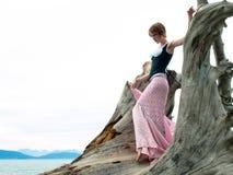 锋利时装模特儿摆在 免版税图库摄影