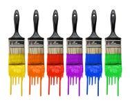 πινέλα χρωμάτων Στοκ Εικόνες
