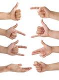 Изолированные руки Стоковые Изображения RF