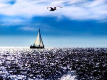 亚得里亚海的中午 免版税图库摄影
