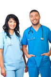 φιλική ιατρική ομάδα Στοκ Εικόνες