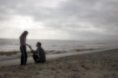влюбленность пляжа Стоковые Фото