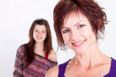постаретая средняя мама Стоковая Фотография