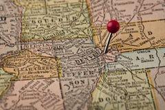 Ντένβερ και κεντρικός χάρτης του Κολοράντο Στοκ φωτογραφίες με δικαίωμα ελεύθερης χρήσης