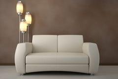 设计内部空间沙发 免版税库存照片