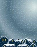 Χιονώδεις στέγες Στοκ Εικόνα