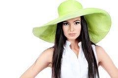 绿色帽子 免版税图库摄影