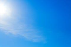 蓝色清楚的天空 库存照片