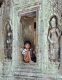 男孩柬埔语 免版税图库摄影