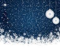 μπλε Χριστούγεννα ανασκό& Στοκ εικόνα με δικαίωμα ελεύθερης χρήσης