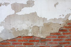 τοίχος ρωγμών τούβλου Στοκ φωτογραφία με δικαίωμα ελεύθερης χρήσης