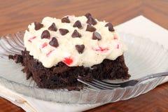 果仁巧克力乳酪蛋糕樱桃 库存照片