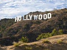 下午好莱坞符号 免版税图库摄影