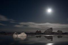 南极晚上 库存图片