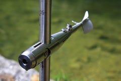 螺旋评定对使用的水的河速度 库存图片