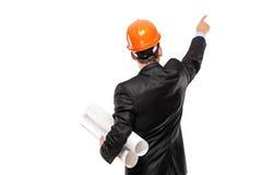 指向诉讼视图的工头 库存照片