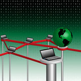 глобальная вычислительная сеть принципиальной схемы Стоковое фото RF