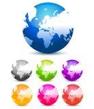 цветастые глобусы Стоковые Фотографии RF