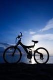 海滩自行车 免版税图库摄影