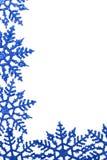 зима снежинки предпосылки Стоковая Фотография