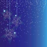 抽象背景蓝色圣诞节闪闪发光 免版税库存图片