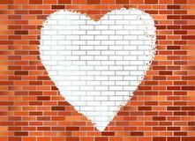 стена Харта кирпича Стоковое Изображение RF