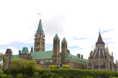 канадский парламент Стоковые Изображения RF