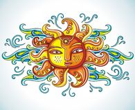 символ солнца Стоковое Изображение