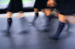 токио школьницы движения ног Стоковая Фотография RF