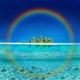 热带海岛的彩虹 图库摄影