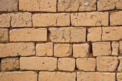 风干砖坯墙壁 库存照片
