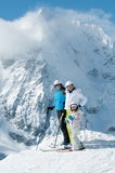 系列滑雪小组 图库摄影