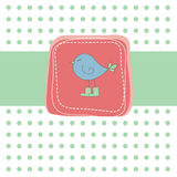 вектор иллюстрации карточки птицы романтичный Стоковая Фотография