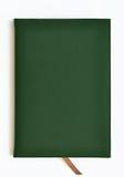 深绿皮革笔记本 免版税库存照片