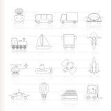 图标发运运输旅行 免版税库存图片