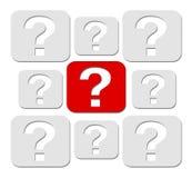 ερώτηση έννοιας Στοκ Εικόνες