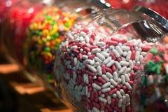 糖果瓶子界面 免版税库存照片