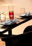 обед романтичный Стоковая Фотография